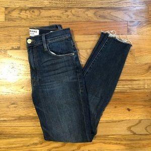 FRAME high waisted crop jeans